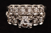 Vintage 14Kt White Gold & Diamond Bridal Set at PristineAuction.com