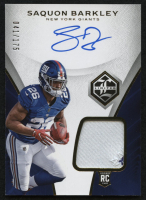 2018 Limited #103 Saquon Barkley Jersey Autograph RC #41/175 at PristineAuction.com