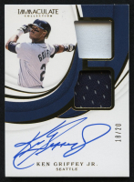 2019 Immaculate Collection Dual Material Autographs #14 Ken Griffey Jr. #18/20 at PristineAuction.com