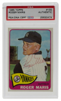 Roger Maris Signed 1965 Topps #155 (PSA Encapsulated) at PristineAuction.com