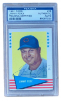 Jimmie Foxx Signed 1961 Fleer #28 (PSA Encapsulated) at PristineAuction.com