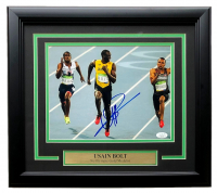 Usain Bolt Signed 11x14 Custom Framed Photo Display (Beckett COA) at PristineAuction.com