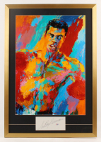 "LeRoy Neiman Signed 25x36 Custom Framed ""Muhammad Ali"" Vintage LeRoy Neiman Lithograph Display (PSA COA) at PristineAuction.com"