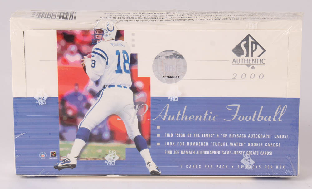2000 SP Authentic Football Unopened Hobby Box with (24) Packs at PristineAuction.com
