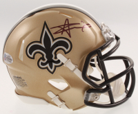 Alvin Kamara Signed New Orleans Saints Speed Mini-Helmet (Beckett COA) at PristineAuction.com