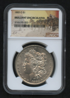 1883-O Morgan Silver Dollar - Stage Coach Label (NGC Brilliant Uncirculated) at PristineAuction.com