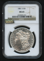 1881-S $1 Morgan Silver Dollar (NGC MS 65) (Littleton Select) at PristineAuction.com