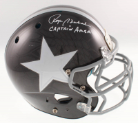 "Roger Staubach Signed Dallas Cowboys Full-Size Authentic On-Field Hydro Dipped Helmet Inscribed ""Captain America"" (Beckett COA) at PristineAuction.com"