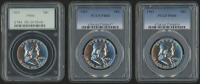 Lot of (3) 1963 Franklin Silver Half-Dollars (PCGS PR66) at PristineAuction.com