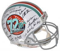 1972 Super Bowl Champions Miami Dolphins LE Full-Size Authentic On-Field Helmet Signed by (40) with Bob Griese, Larry Little, Mercury Morris (Mounted Memories Hologram) at PristineAuction.com
