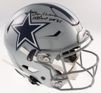 "Roger Staubach Signed Cowboys Full-Size Authentic On-Field SpeedFlex Helmet Inscribed ""SB Vl MVP"" & ""HOF' 85"" (Beckett COA) at PristineAuction.com"