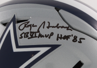 "Roger Staubach Signed Cowboys Full-Size Authentic On-Field SpeedFlex Helmet Inscribed ""SB Vl MVP"" & ""HOF' 85"" (Beckett COA) at PristineAuction.com"