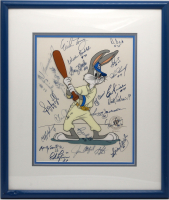 "1977-78 New York Yankees ""Baseball Bugs"" 18x20 Custom Framed LE Warner Bros Sericel Signed by (22) with Yogi Berra, Lou Piniella, Sparky Lyle, Jim ""Catfish"" Hunter (JSA LOA) at PristineAuction.com"