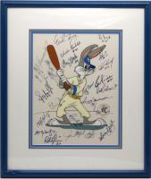 "1977-78 New York Yankees ""Baseball Bugs"" 18x20 Custom Framed LE Warner Bros Sericel Signed by (22) with Yogi Berra, Reggie Jackson, Goose Gossage, Jim ""Catfish"" Hunter (JSA LOA) at PristineAuction.com"