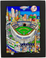 "Charles Fazzino Signed ""Lets Go Yankees"" 15.5x20 PR Commemorative Pop Art Display (PA LOA) at PristineAuction.com"