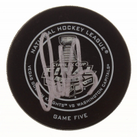 Alexander Ovechkin Signed 2018 Stanley Cup Finals Logo Hockey Puck (Fanatics Hologram) at PristineAuction.com