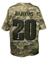 "Brian Dawkins Signed Philadelphia Eagles Nike Salute to Service Jersey Inscribed ""Weapon X!!"" (JSA COA) at PristineAuction.com"
