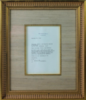 Bill Clinton Signed 14x17 Custom Framed White House Letter Display (PSA COA) at PristineAuction.com