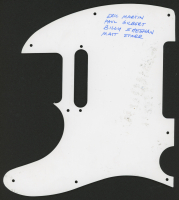 Mr. BIG Pick Guard Band-Signed by (4) with Eric Martin, Paul Gilbert, Billy Sheehan, & Matt Starr (JSA COA) at PristineAuction.com