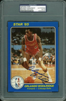 Orlando Woolridge Signed 1985 Star Team Supers 5x7 #CB2 (PSA Encapsulated) at PristineAuction.com