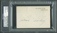 Calvin Coolidge Signed 2.75x4.25 White House Card (PSA Encapsulated) at PristineAuction.com