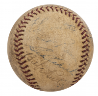 Vintage New York Yankees Baseball Signed by (11) with Babe Ruth, Joe DiMaggio, Red Ruffing (Beckett LOA) at PristineAuction.com