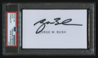 George W. Bush Signed 3x5 Cut (PSA Encapsulated) at PristineAuction.com