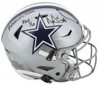 "Dak Prescott Signed Dallas Cowboys Full-Size Authentic On-Field Flex Speed Helmet Inscribed ""America's Team"" & ""ROY 16"" (Beckett COA & Prescott Hologram) at PristineAuction.com"