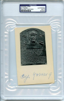 Cy Young Signed HOF Plaque 3.75x6 Card (PSA Encapsulated & PSA LOA) at PristineAuction.com