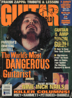 "Dimebag Darrell & Vinnie Paul Signed 1994 ""Guitar World"" Magazine (Beckett LOA) at PristineAuction.com"