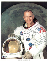 Buzz Aldrin Signed NASA 8x10 Photo with (2) Inscriptions (Beckett COA) at PristineAuction.com