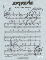 """Extreme """"More Than Words"""" 8.5x11 Sheet Music Band-Signed by (4) with Gary Cherone, Nuno Bettencourt, Pat Badger, Kevin Figueiredo (JSA COA) at PristineAuction.com"""