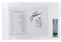 "Jack Nicklaus Signed ""Masters"" Augusta National Golf Club Scorecard (BGS Encapsulated) at PristineAuction.com"