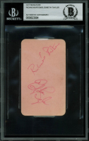 Elizabeth Taylor & Richard Burton Signed 2.25x4 Cut (BGS Encapsulated) at PristineAuction.com