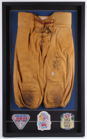 Jerry Rice Signed 22.5x36.75x2 Custom Framed Football Pants Display with (3) Super Bowl Patch (PSA COA) at PristineAuction.com