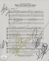 """Night Ranger """"When You Close Your Eyes"""" 8.5x11 Sheet Music Band-Signed by (5) with Jack Blades, Kelly Keagy, Brag Gillis, Eric Levy (JSA COA) at PristineAuction.com"""