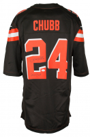 "Nick Chubb Signed Cleveland Browns Nike Jersey Inscribed ""Dawg Pound"" (JSA COA) at PristineAuction.com"