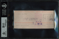 Greta Garbo Signed 1981 Personal Bank Check (BGS Encapsulated) at PristineAuction.com