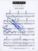 "Vince Gill & Amy Grant Signed ""House Of Love"" 8.5x11 Music Sheet (JSA COA) at PristineAuction.com"