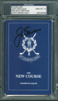 Jack Nicklaus Signed The New Course Golf Club Score Card (PSA Encapsulated) at PristineAuction.com