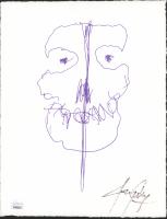 Jerry Only Signed Misfits 8x10 Sketch on Textured William Turner Deckled Edge Fine Art Paper (JSA COA) at PristineAuction.com