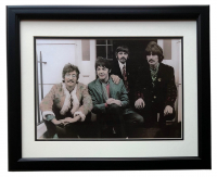 The Beatles 17x21 Custom Framed Photo Display at PristineAuction.com