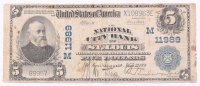 1902 $5 Five Dollars U.S. National Currency Large Bank Note - The National City Bank of St. Louis, Missouri at PristineAuction.com