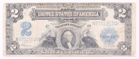1899 $2 Two Dollars U.S. Silver Certificate Large Size Bank Note at PristineAuction.com