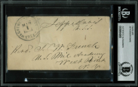 Jefferson Davis Signed 2.75x5.75 Free Frank Envelope (BGS Encapsulated) at PristineAuction.com