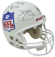 NFL Quarterback Greats Full-Size Authentic On-Field Helmet Signed By (13) Including Jim Kelly, Brett Favre, John Elway (Beckett LOA) at PristineAuction.com