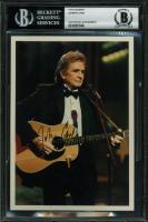 Johnny Cash Signed 5x7 Photo (BGS Encapsulated) at PristineAuction.com