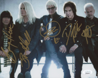 REO Speedwagon 8x10 Photo Signed by (5) with Neal Doughty, Kevin Cronin, Bruce Hall, Dave Amato & Bryan Hitt (JSA COA) at PristineAuction.com