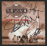 "Tesla ""Into The Now"" CD Album Booklet Signed by (4) With Jeff Keith, Brian Wheat, Troy Luccketta, & Frank Hannon (JSA COA) at PristineAuction.com"
