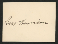 Benjamin Harrison Signed 2.5x3.5 Cut (JSA ALOA) at PristineAuction.com